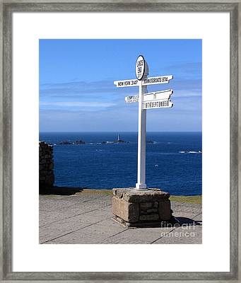 Iconic Lands End England Framed Print