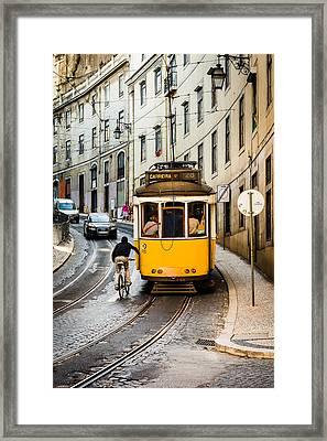Iconic Lisbon Streetcar No. 28 II Framed Print