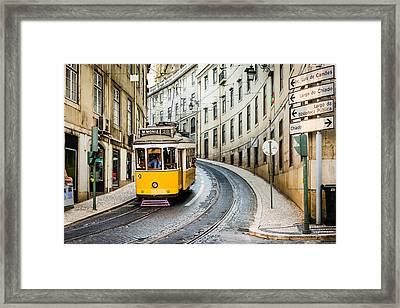 Iconic Lisbon Streetcar No. 28 IIi Framed Print by Marco Oliveira