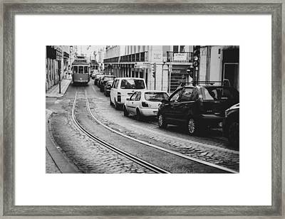 Iconic Lisbon Streetcar No. 28 V Framed Print by Marco Oliveira