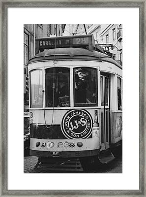 Iconic Lisbon Streetcar No. 28 Vi Framed Print by Marco Oliveira