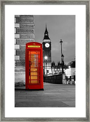 Iconic London Framed Print by Dan Davidson