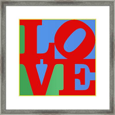 Iconic Love Framed Print