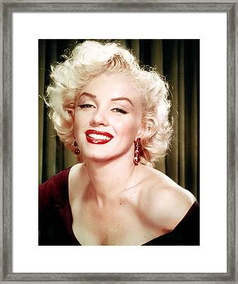 Iconic Marilyn Monroe Framed Print by Georgia Fowler