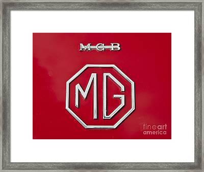 Iconic Mgb Badge Framed Print