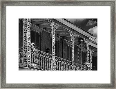 Iconic New Orleans Wrought Iron Balcony Framed Print by Christine Till