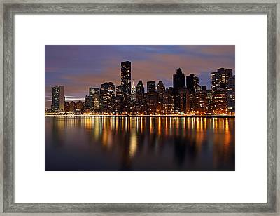 Iconic New York City Chrysler Building  Framed Print by Juergen Roth