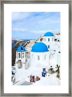 Iconic Oia - Santorini - Greece Framed Print by Matteo Colombo