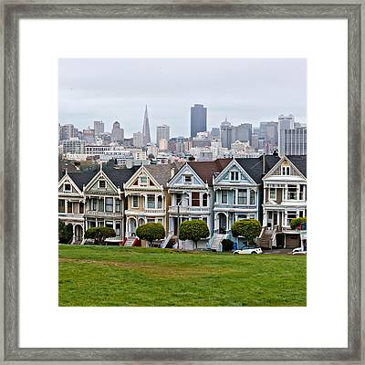 Iconic Painted Ladies Framed Print