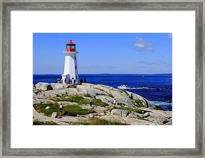 Iconic Peggy's Cove Lighthouse Nova Scotia Canada Framed Print