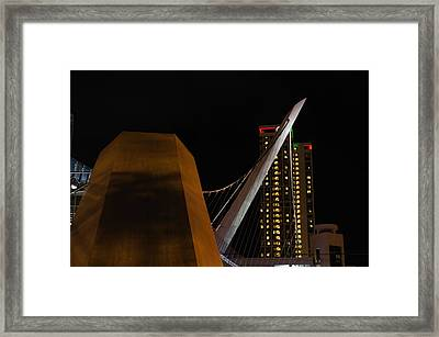 Iconic Suspension Bridge Framed Print by See My  Photos
