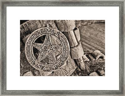 Iconic Texas Bw Framed Print by JC Findley