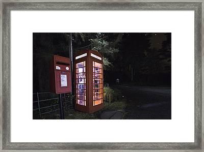 Iconic Uk Phone Box  Framed Print
