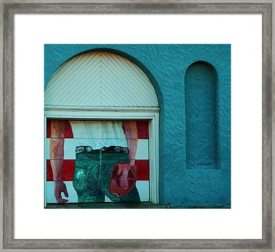 Iconic Urban Mural Framed Print by Chris Berry