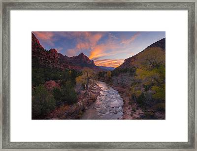 Iconic Zion Framed Print by Joseph Rossbach