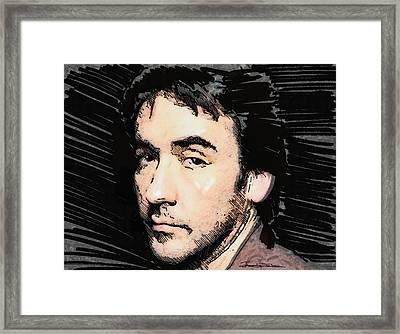 Icons - John Cusack Framed Print