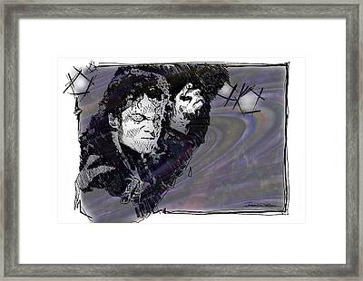 Icons - Michael Jackson Framed Print by Jerrett Dornbusch