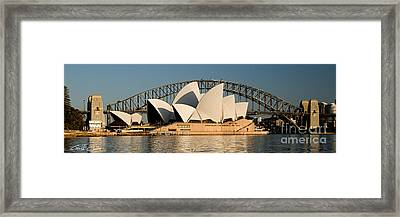 Icons One And Two - Sydney Australia. Framed Print by Geoff Childs
