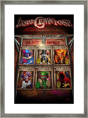 Icp Bounty Boards Framed Print by Tom Wood