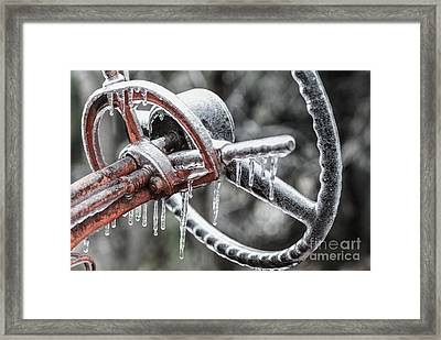 Framed Print featuring the photograph Icy Allis- Chalmers Tractor by Debbie Green