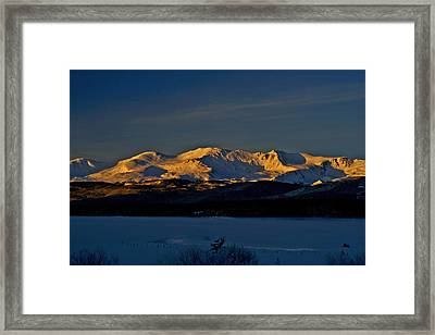 Icy Alpenglow Framed Print