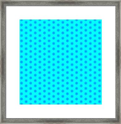 Icy Aqua And Blue Snowflake Pattern Framed Print by Shelley Neff