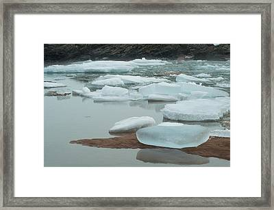 Icy Beach Framed Print by Jill Laudenslager