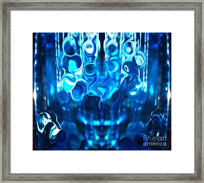 Icy Blue Cool Framed Print