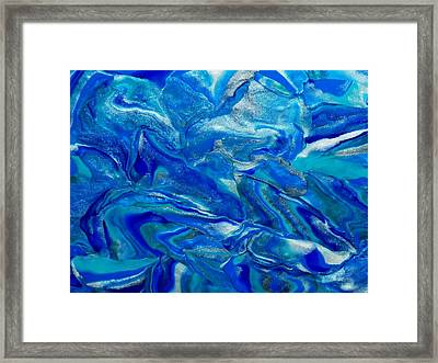 Icy Blue Framed Print