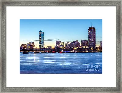Icy Boston At Dawn Framed Print