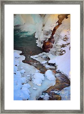Icy Christine Falls  Framed Print by Inge Johnsson
