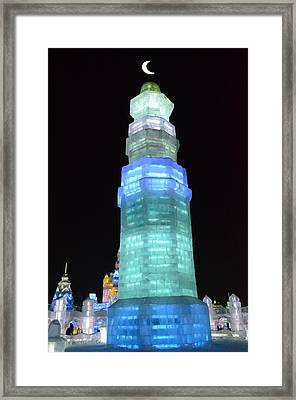 Icy Crescent Framed Print by Brett Geyer