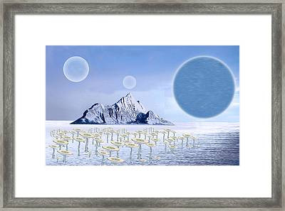 Icy Desert Framed Print by Piero Lucia