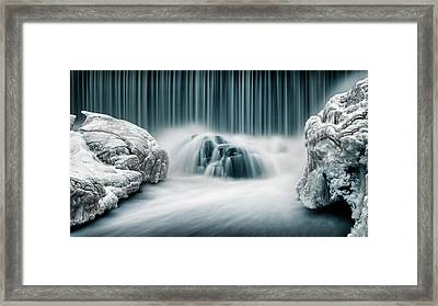 Icy Falls Framed Print