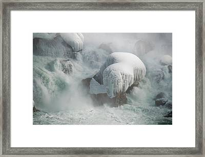 Icy Falls Framed Print by Tracy Munson