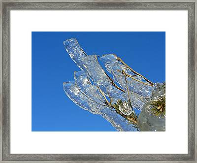 Icy Finger  Framed Print by Windswept Storm Chase Tours