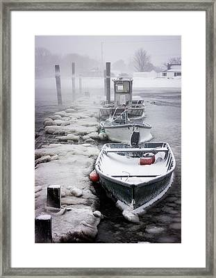 Icy Grip Framed Print by Benjamin Williamson