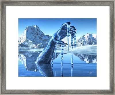 Icy Grip Framed Print