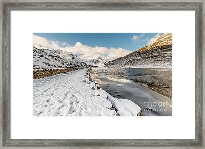 Icy Lake Framed Print