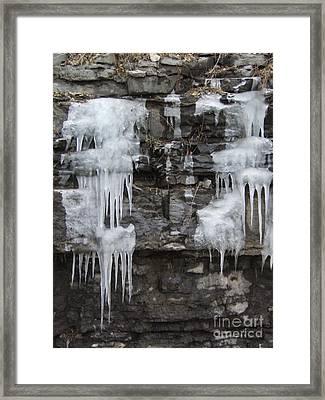Icy Ledges Framed Print by Margaret McDermott
