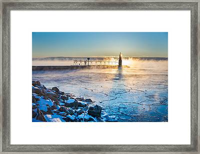 Icy Morning Mist Framed Print by Bill Pevlor