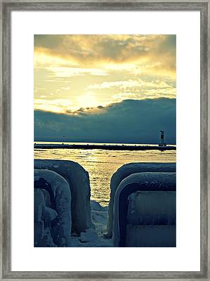 Icy Path Framed Print by Dawdy Imagery
