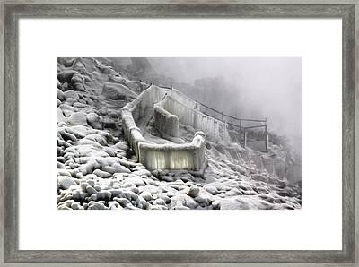 Icy Path Way Framed Print