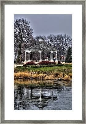 Framed Print featuring the photograph Icy Reflection by Deborah Klubertanz