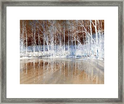 Icy Reflections Framed Print by The Creative Minds Art and Photography