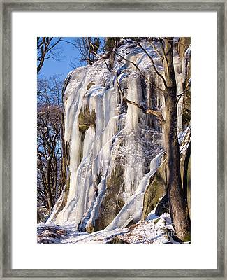 Icy Rocks Framed Print by Lutz Baar