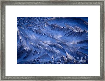 Icy Rush Framed Print