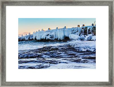 Icy Shores Framed Print