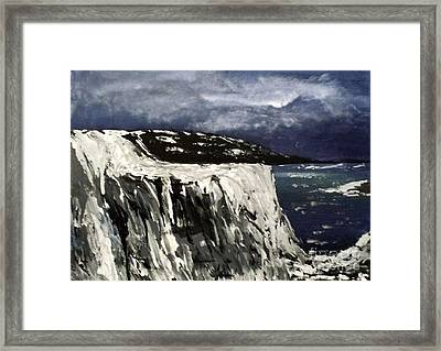 Icy Slope Framed Print