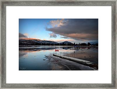 Icy Sunrise 001 Framed Print